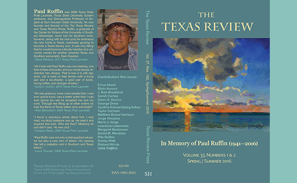 The Texas Review 37.1&2<br>Spring/Summer 2016